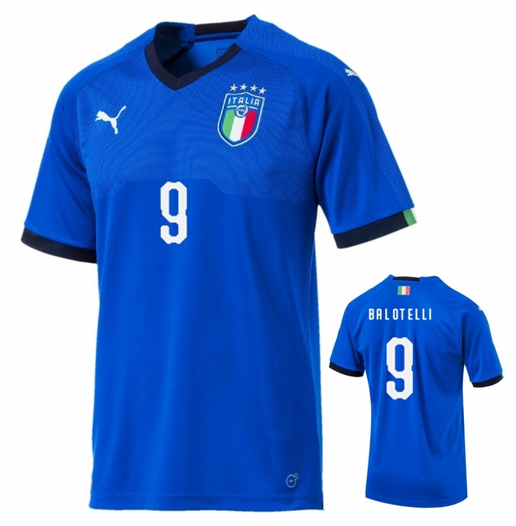ITALIA FIGC MAGLIA BALOTELLI BAMBINO 2018-19