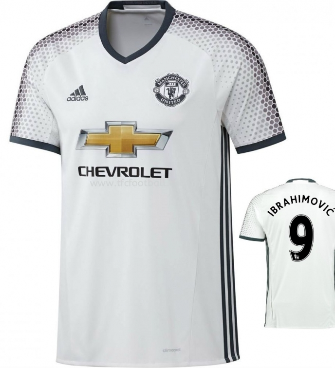 MANCHESTER UNITED MAGLIA IBRAHIMOVIC BIANCA 2016-17