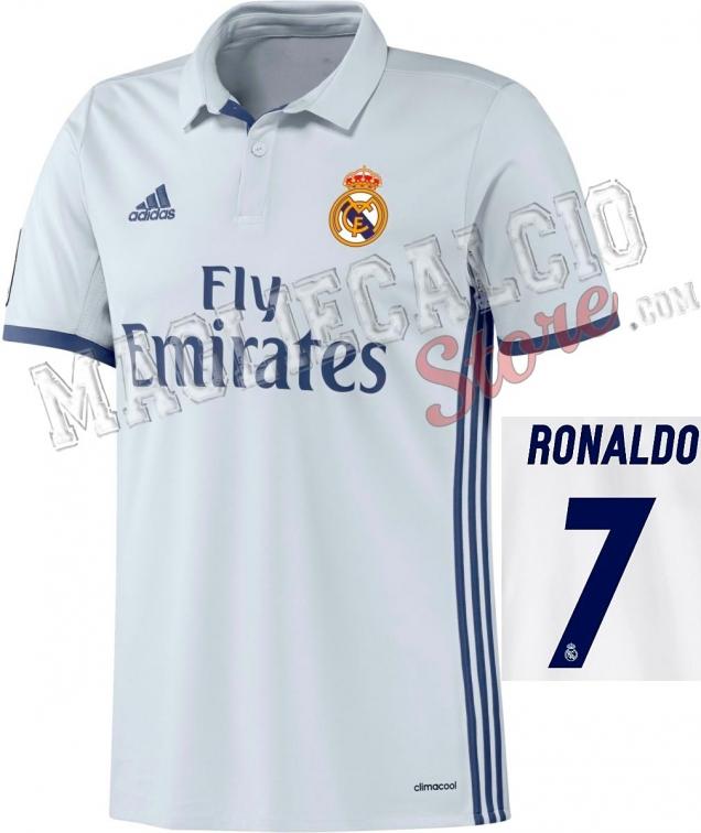 REAL MADRID MAGLIA RONALDO UFFICIALE 2016-17