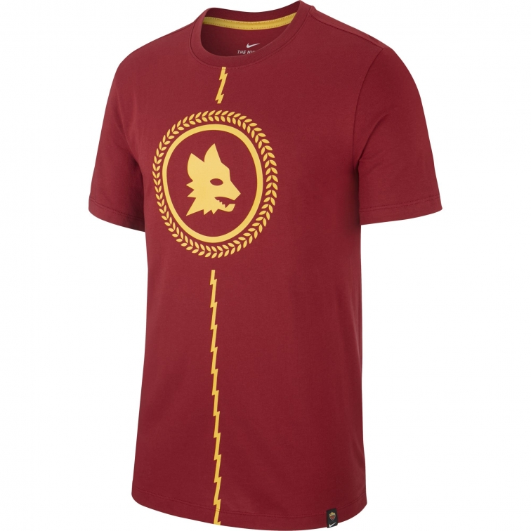 AS ROMA T-SHIRT ROSSA LUPA 2019-20