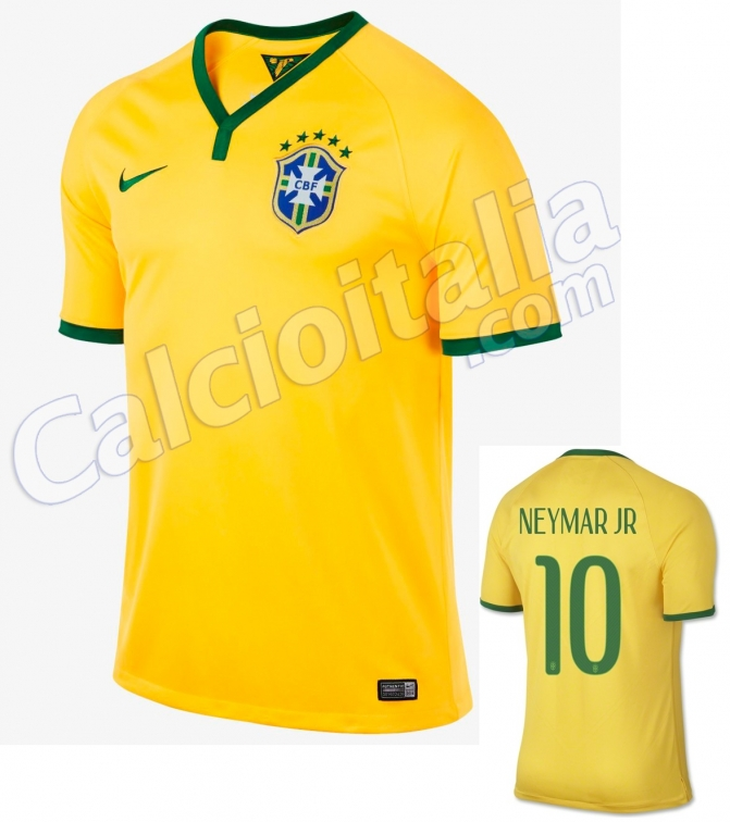 NEYMAR HOME SHIRT WORLD CUP 2014
