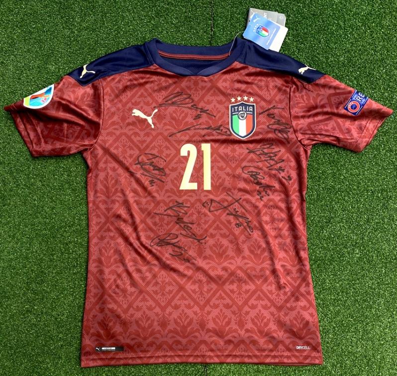 ITALIA FIGC MAGLIA DONNARUMMA AUTOGRAFATA GIOCATORI WEMBLEY 2021