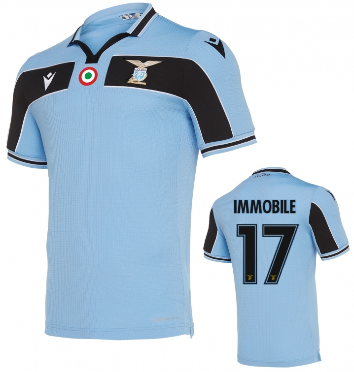 SS LAZIO 17 IMMOBILE OFFICIAL 120 YEARS AUTHENTIC MATCH HOME SHIRT