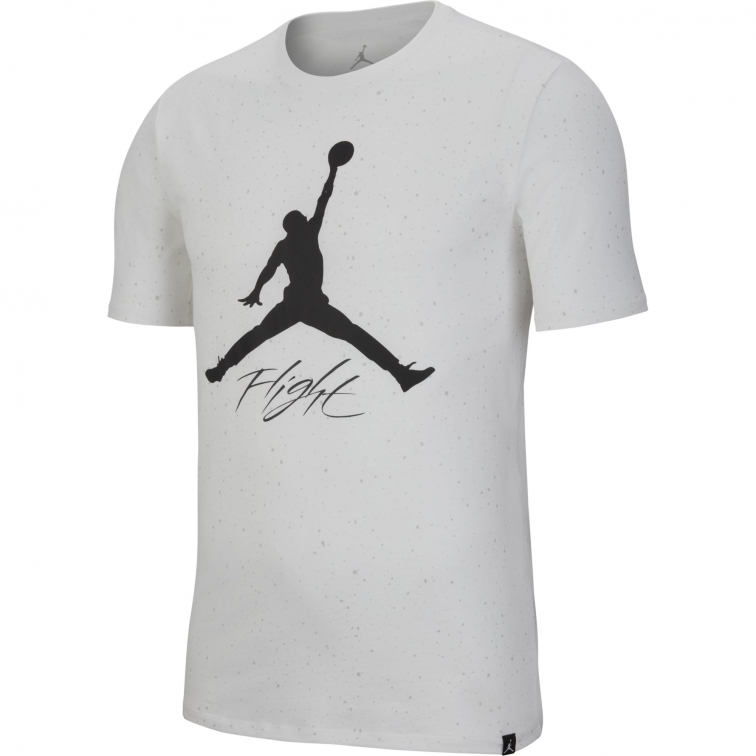 JORDAN LOGO FLIGHT WHITE T-SHIRT