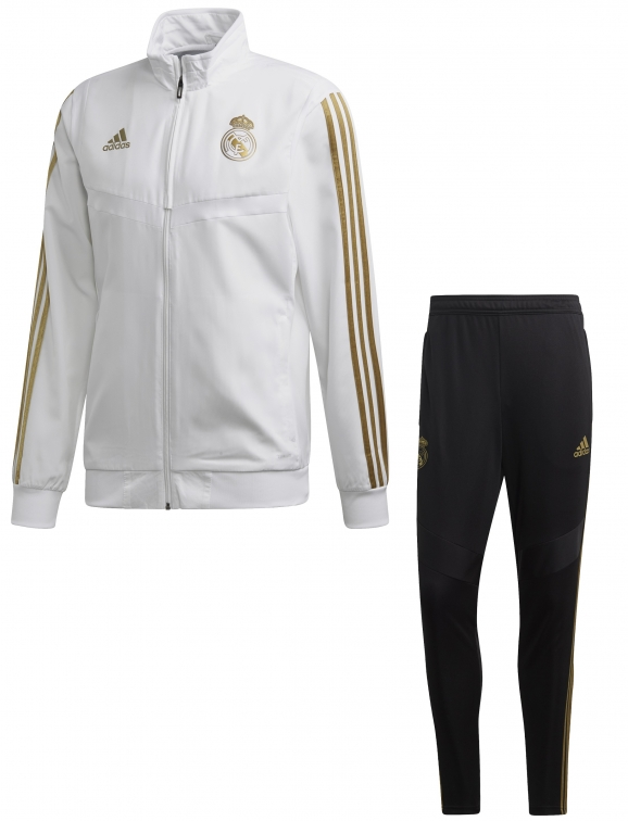 REAL MADRID PRESENTATION WHITE TRACKSUIT 2019-20