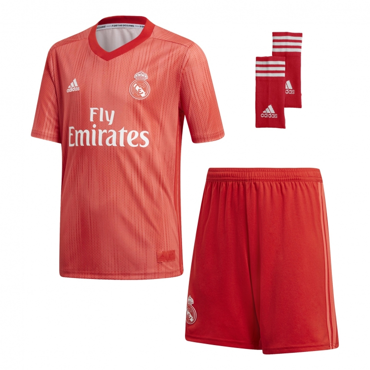 REAL MADRID COMPLETO BAMBINO 3RD ROSSO 2018-19