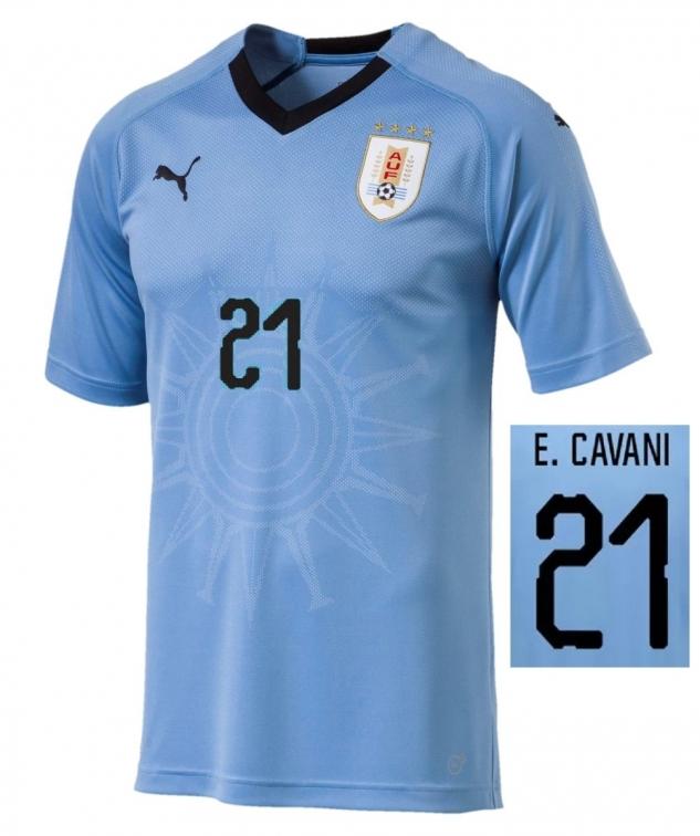 Uruguay Maglia Cavani Home 2017 19 Calcioitalia Com