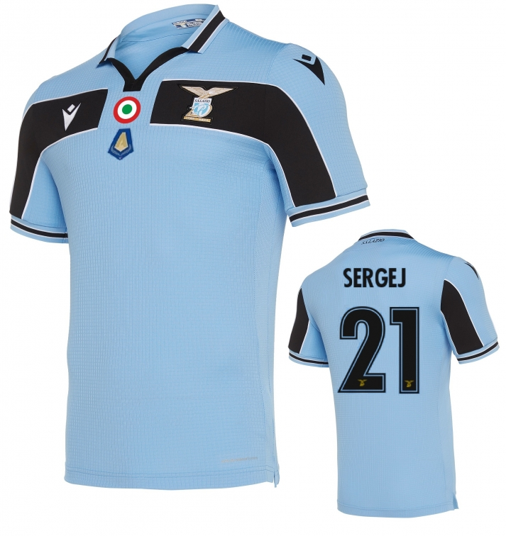 SS LAZIO SERGEJ OFFICIAL 120 YEARS AUTHENTIC MATCH HOME SHIRT