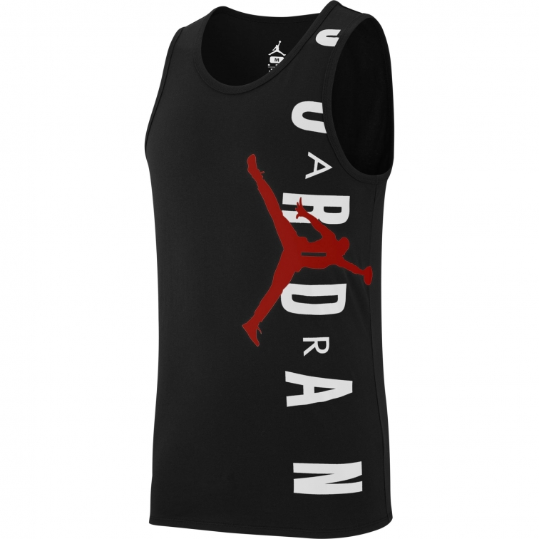 JORDAN JUMPMAN BLACK COTTON SLEEVELESS