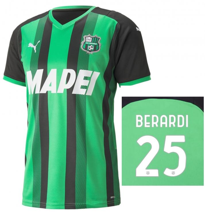 SASSUOLO MAGLIA BERARDI HOME 2021-22