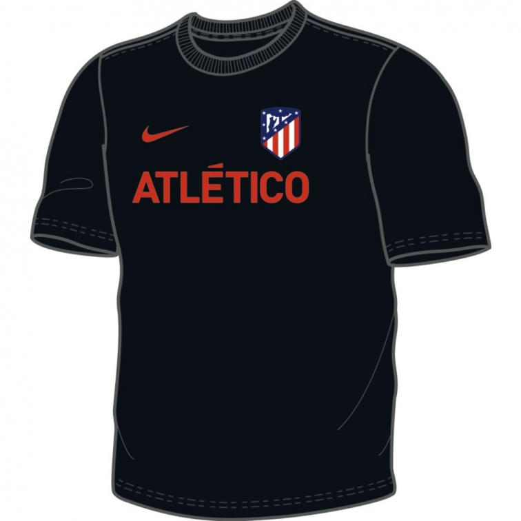 ATLETICO MADRID T-SHIRT NERA 2019-20