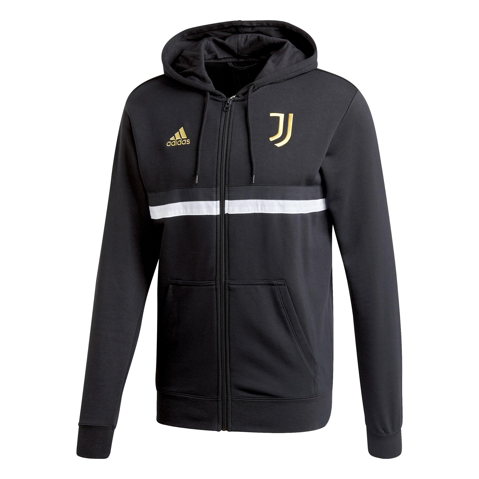 JUVENTUS FELPA CAPPUCCIO ZIP NERA 2020-21 | CalcioItalia.com
