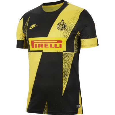INTER PREMATCH PIRELLI YELLOW SHIRT 2019-20
