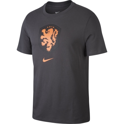 NETHERLANDS LOGO BLACK T-SHIRT 2020-21