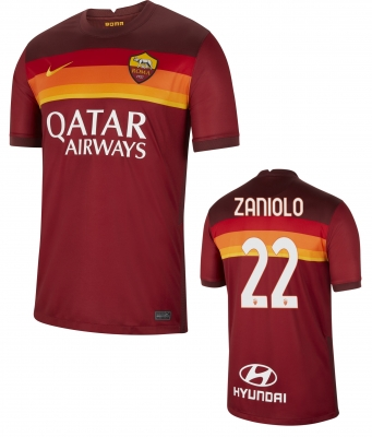 AS ROMA ZANIOLO HOME SHIRT 2020-21