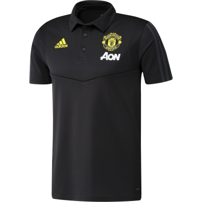 MANCHESTER UNITED BLACK POLO 2019-20