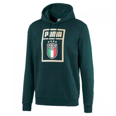 ITALIA FIGC FELPA CAPPUCCIO LOGO VERDE 2019-20