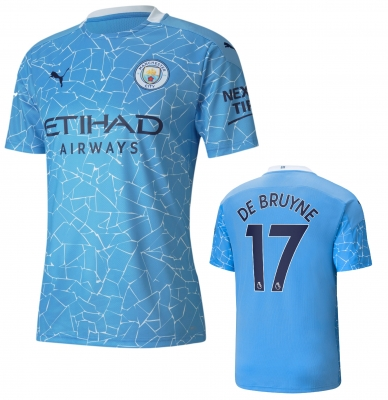 MANCHESTER CITY DE BRUYNE JUNIOR HOME SHIRT 2020-21