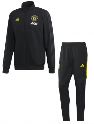 MANCHESTER UNITED PRESENTATION BLACK TRACKSUIT 2019-20