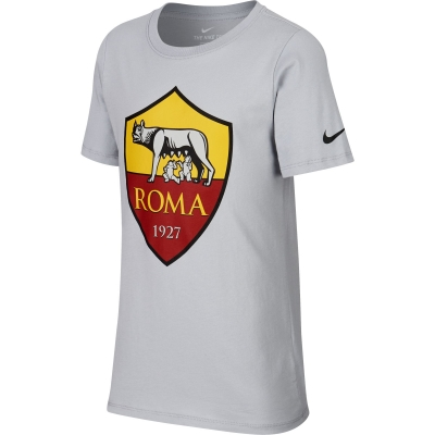 AS ROMA T-SHIRT BAMBINO GRIGIA 2018-19