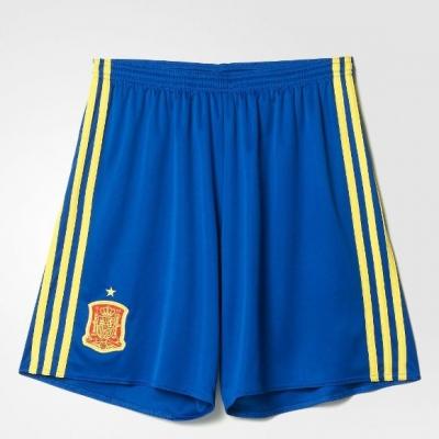 SPAIN JUNIOR HOME SHORTS EURO 2016