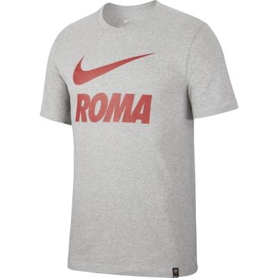 AS ROMA T-SHIRT SWOOSH GRIGIA 2020-21