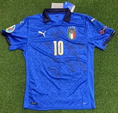 ITALIA FIGC MAGLIA INSIGNE AUTOGRAFATA GIOCATORI WEMBLEY 2021