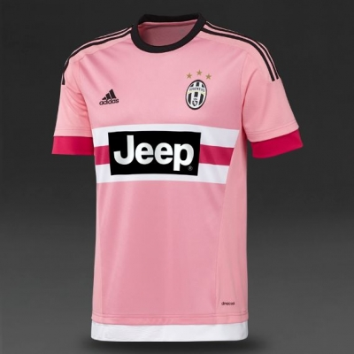JUVENTUS AWAY PINK SHIRT 2015-16