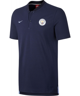 MANCHESTER CITY POLO AUTHENTIC BLU 2017-18