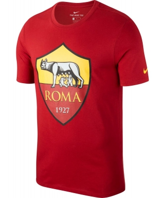 AS ROMA T-SHIRT LOGO ROSSA 2018-19