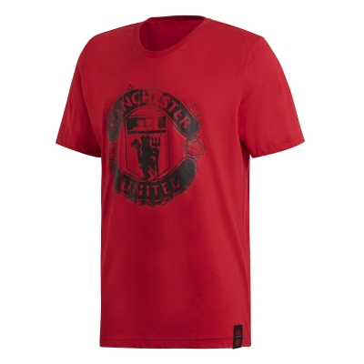 MANCHESTER UNITED RED LOGO T-SHIRT 2018-19