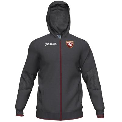 FC TORINO FELPA CAPPUCCIO ZIP GRIGIA 2019-20