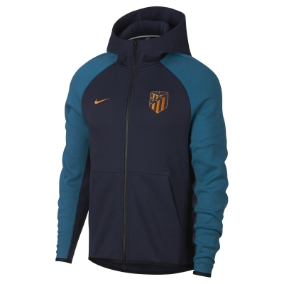 ATLETICO MADRID FELPA CAPPUCCIO ZIP TECH FLEECE 2018-19