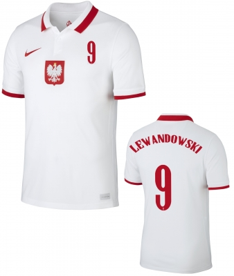 POLAND LEWANDOWSKI JUNIOR HOME SHIRT 2020-21
