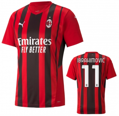 AC MILAN IBRAHIMOVIC HOME SHIRT 2021-22