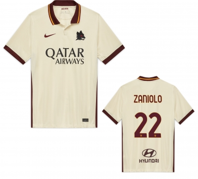 AS ROMA ZANIOLO AWAY SHIRT 2020-21