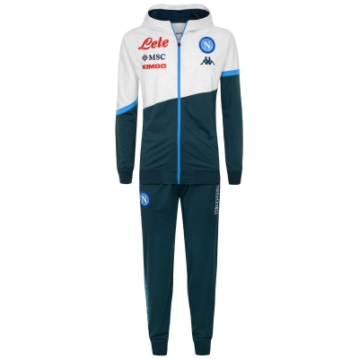 SSC NAPOLI POLY HOODY WHITE TRACKSUIT 2020-21