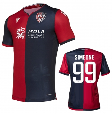 CAGLIARI SIMEONE AUTHENTIC MATCH SHIRT 2019-20