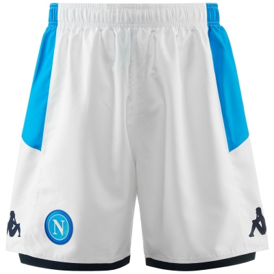 SSC NAPOLI HOME WHITE SHORTS 2019-20