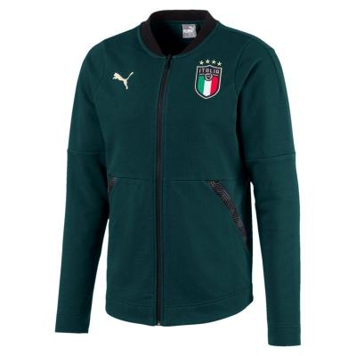 ITALIA FIGC FELPA ZIP in cotone VERDE 2019-20