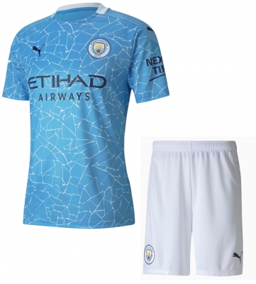 MANCHESTER CITY JUNIOR HOME KIT 2020-21