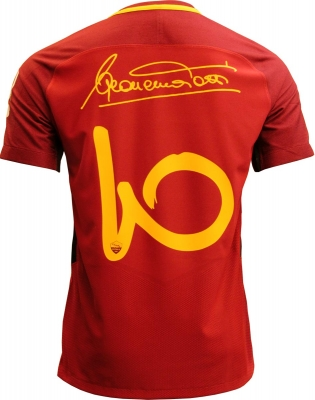 AS ROMA AUTHENTIC VAPOR TOTTI SIGNATURE SHIRT 2017