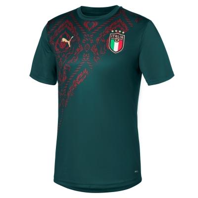 ITALIA FIGC MAGLIA PREPARTITA VERDE 2019-20