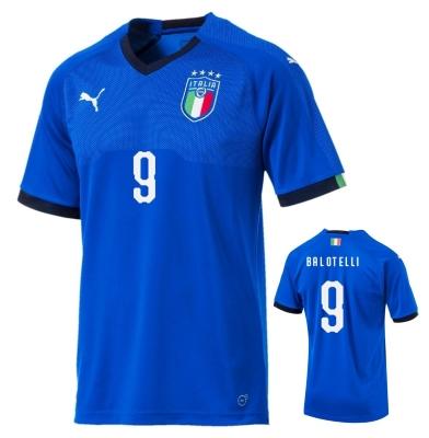 ITALIA FIGC MAGLIA BALOTELLI HOME 2018-19