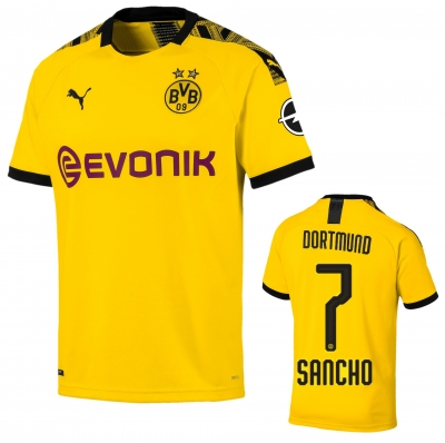 BORUSSIA DORTMUND SANCHO JUNIOR HOME SHIRT 2019-20