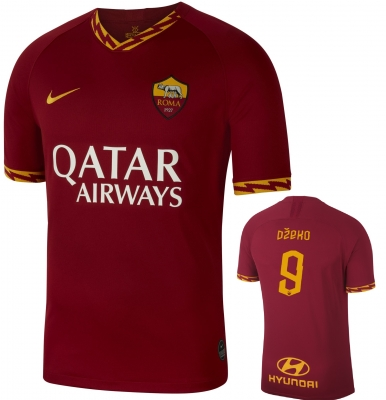 AS ROMA DZEKO HOME SHIRT 2019-20