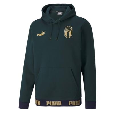 ITALIA FIGC FELPA CAPPUCCIO VERDE 2019-20