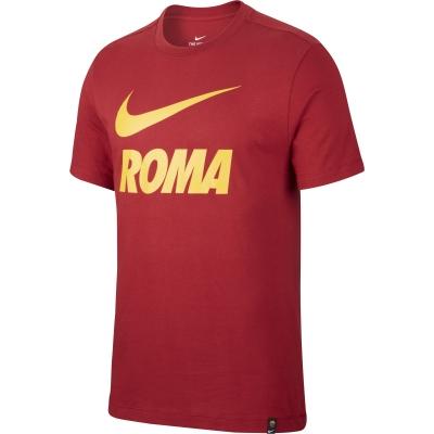 AS ROMA T-SHIRT SWOOSH ROSSA 2020-21