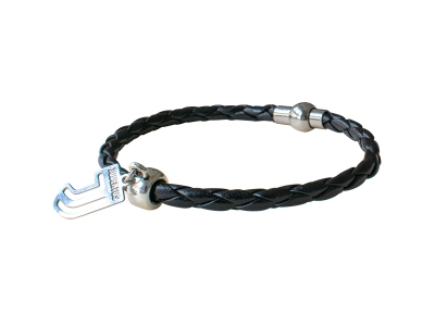 JUVENTUS BLACK BRACELET with METAL LOGO