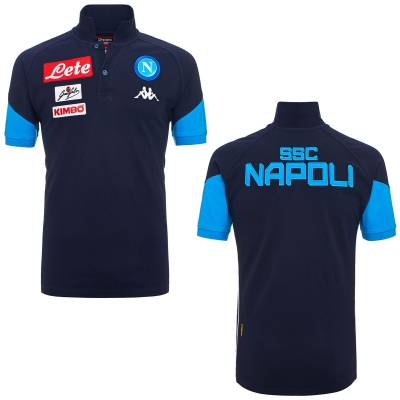 SSC NAPOLI POLO PLAYER BLU 2017-18